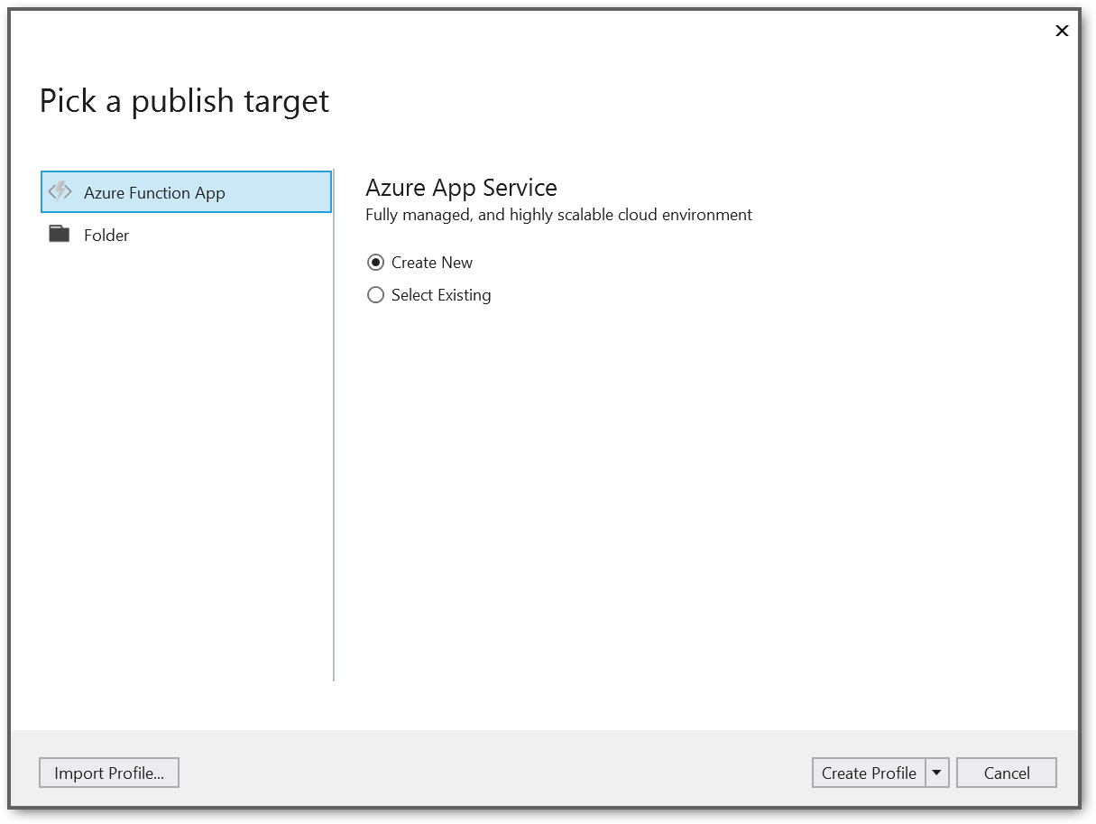 Publish window screenshot