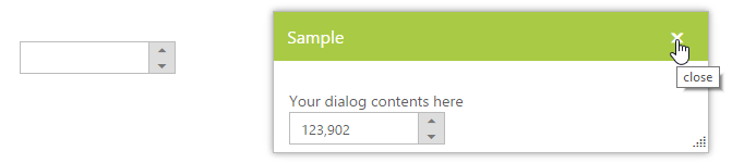 Dialog with NumericTextBox