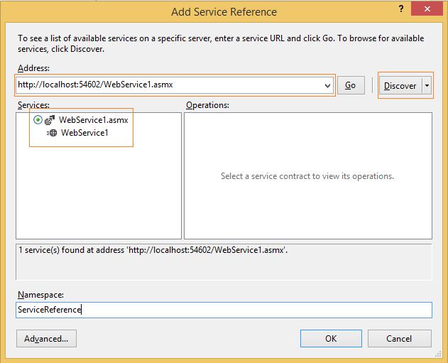 WebService details