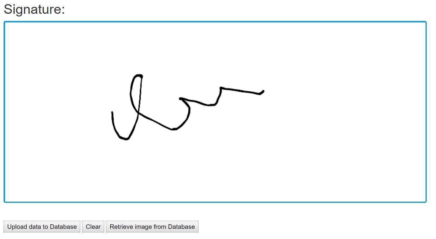 Retrieving Signature from database