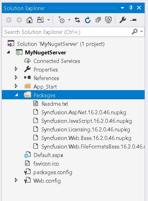VS - Nuget packages installed
