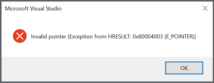 Exception throw while creating the Syncfusion UWP application in Visual Studio 2017 (v15.3.2)