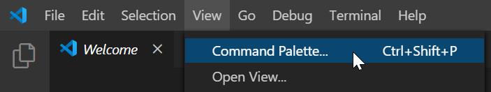 Command Palette...