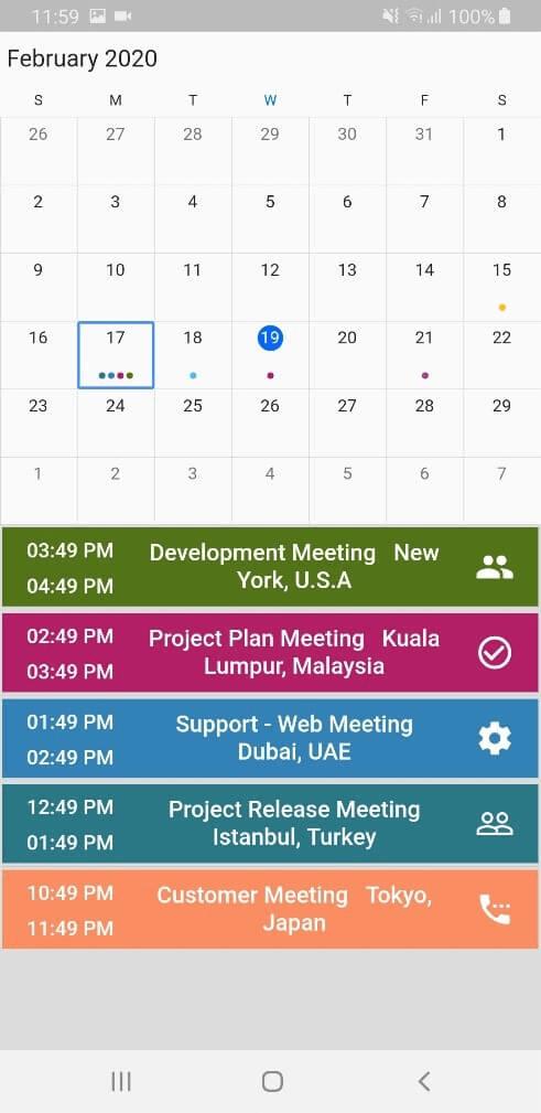 custom agenda view