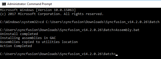 Commands to run a batch file in command prompt