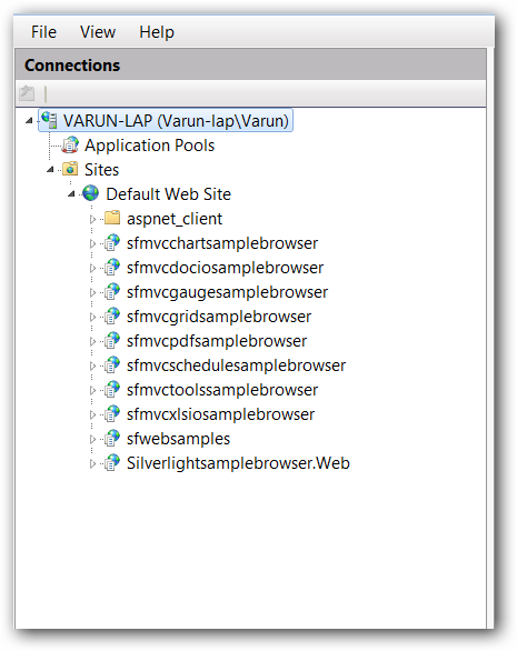 Configuring the IIS in machine