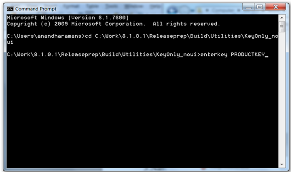 Enter product key in cmd prompt to use the syncfusion controls in build machine
