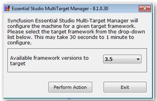 Framework selection in Multi Target Manager
