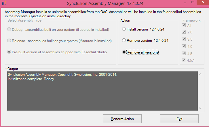 Syncfusion Assembly Manager