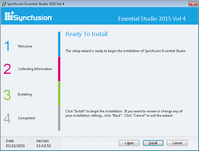 """To initiate the installation process , click """"Install"""" to proceed."""