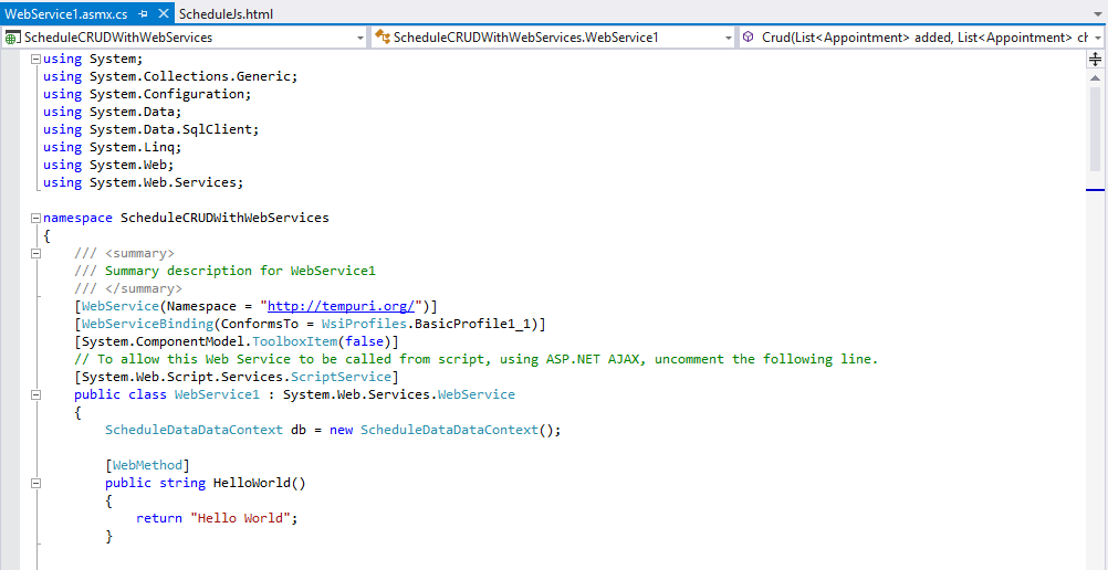 WebService1.asmx.cs file