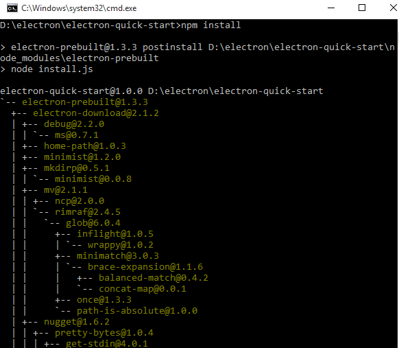 npm package install
