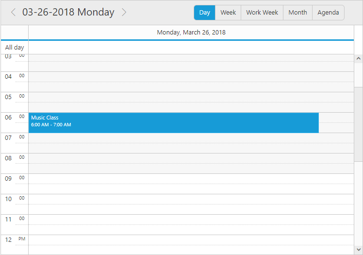 Customized date header format in Day view