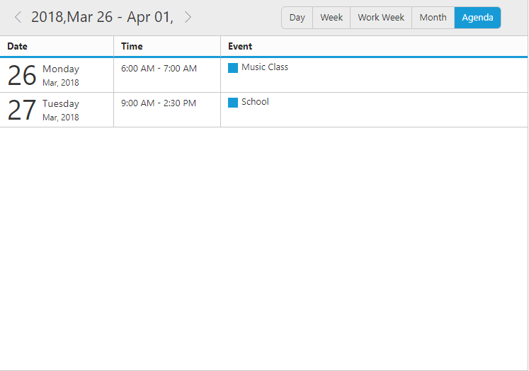 Customized date header format in Agenda view
