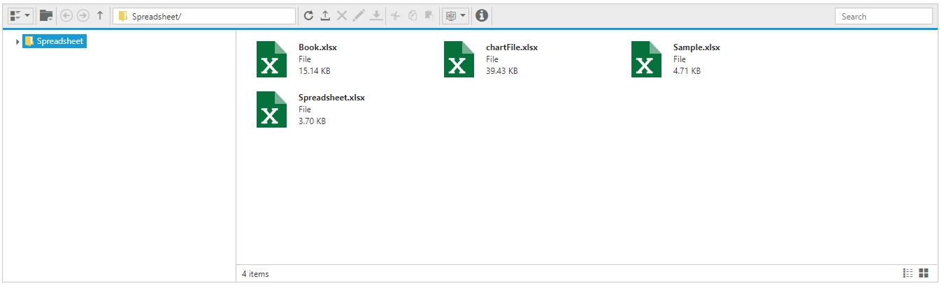 spreadsheet file explorer sample preview