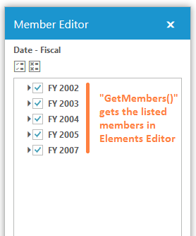 GetMembers() gets listed members in Elements editor