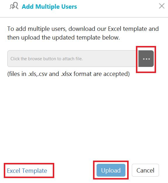 Add multiple users window