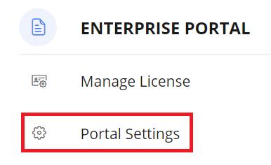 Portal settings tab