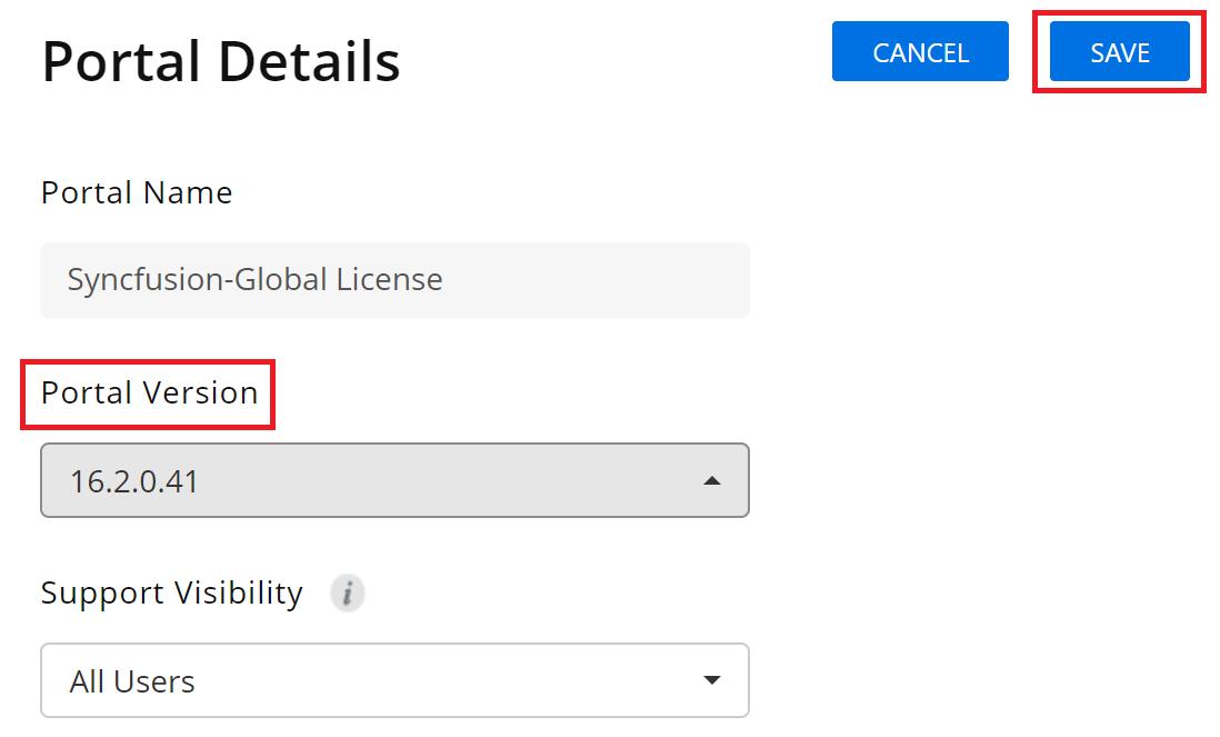 Save updated portal details
