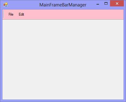 Customize the MainFrameBar manager