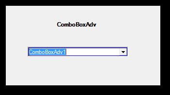 Showing the border around ComboBox