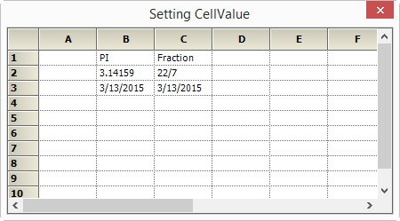 Set the cellvalue in gridcontrol