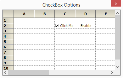 Show the checkbox option in grid