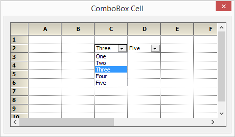 Combobox cell in a grid
