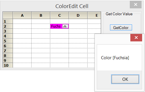 CellType property set to ColorEdit
