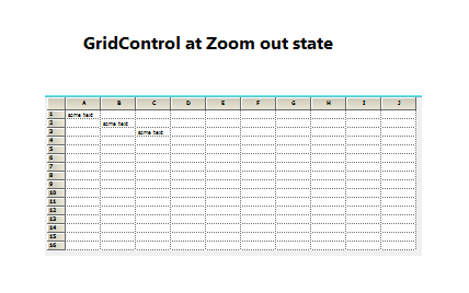 Zoom down function of gridcontrol