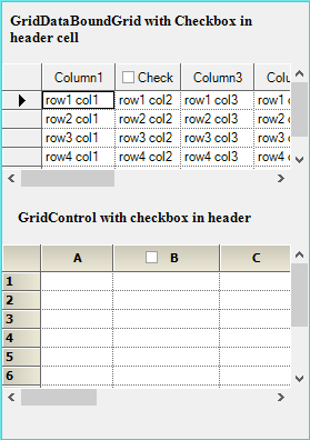 Checkbox in the header for GridControl and GridDataBoundGrid