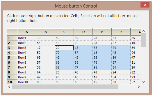 Selection in the GridControl
