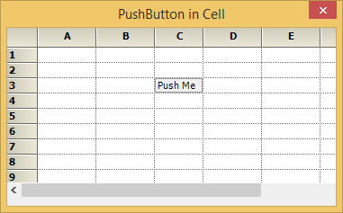 Show the push button in a grid cell