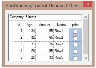 Adding unbound checkbox column