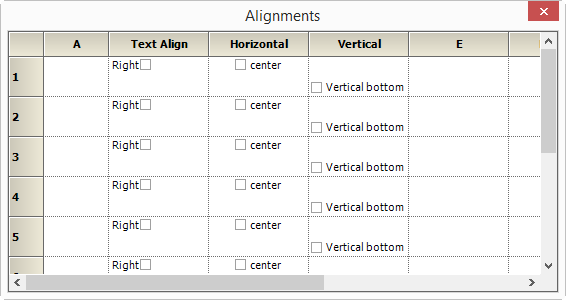 Alignment in GridControl