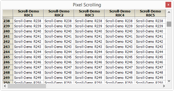 Vertical scrolling optimization
