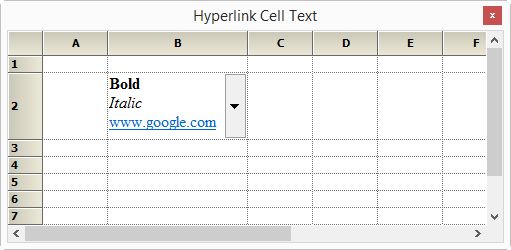 Hyperlink cell text in gridcontrol