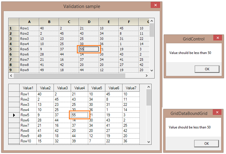 Cell values to be less than 50