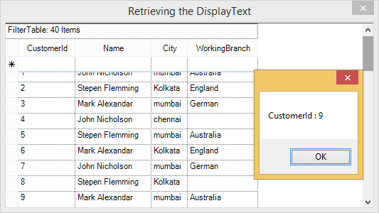 Show the retrieve text in GridGroupingControl
