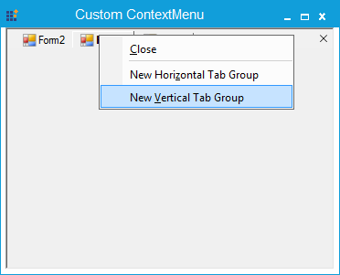 Before adding the context menu item in the context menu