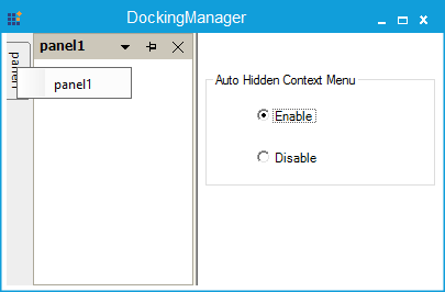 Showing context menu enabled in auto hidden tab