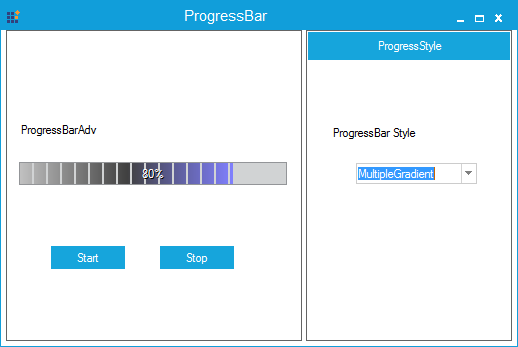 Progressbar specified with multiple gradient color