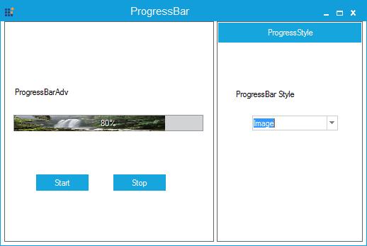 Progressbar specified with image