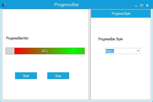 Progressbar specified with metro style