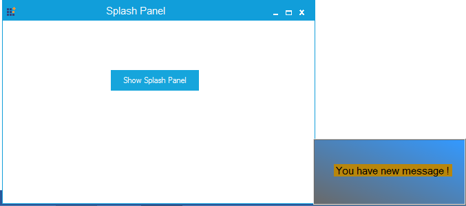 Splash panel shows at the bottom right
