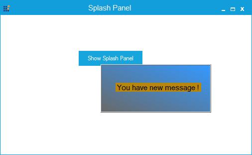 Show the splash panel in custom location