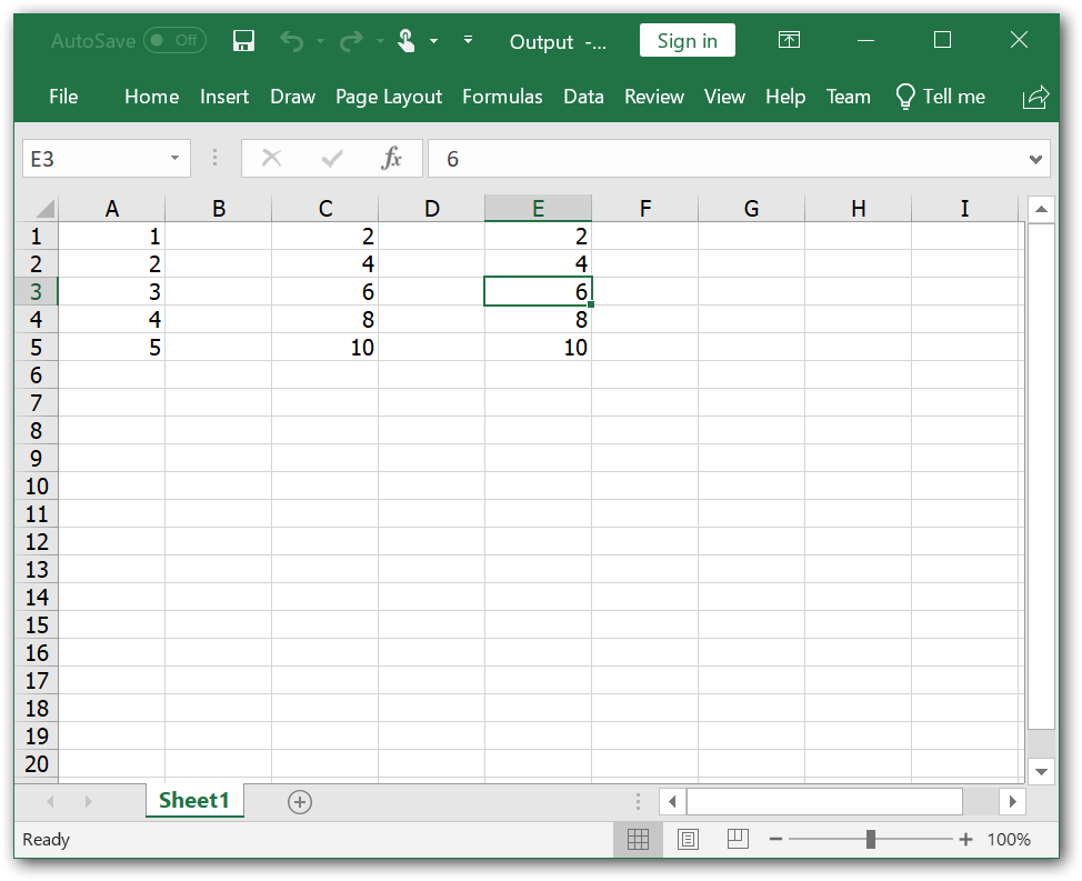 Paste only the formula value of Excel cell