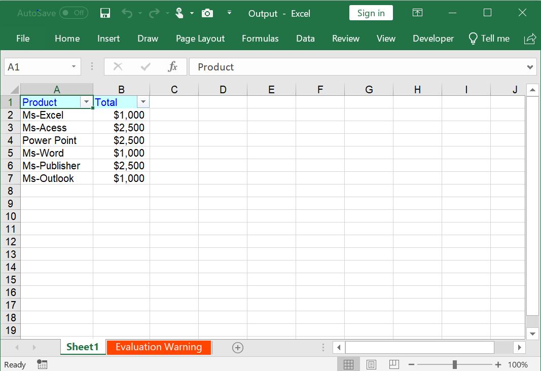 Create AutoFilter in Excel