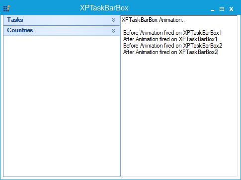 After firing XPTaskBarBox animation event