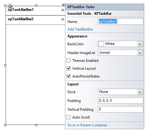 Add XPTaskBar boxes in  XPTaskBar by using smart tag